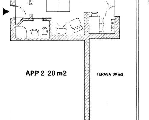 Apartma Sosič 2 - Tloris